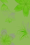 Flowers with gradient. In green/gray royalty free illustration
