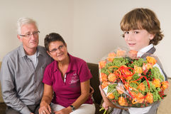 Flowers for grandma and granddad Royalty Free Stock Photography