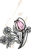 Flowers graphic design  Royalty Free Stock Photo