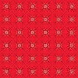 Flowers Graphic On Red Background Pattern. Royalty Free Stock Photography