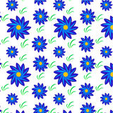 Flowers and grass pattern Stock Photo