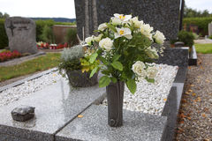 Flowers for grave decoration Stock Photography