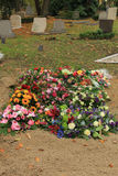 Flowers on a grave Royalty Free Stock Photography