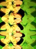 Flowers on green 2 Stock Photos
