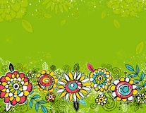 Flowers on green background Stock Photo