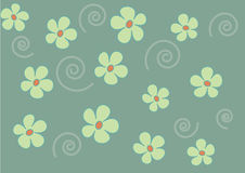 Flowers on green background Royalty Free Stock Photos
