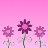 Flowers Greeting Card Stock Image
