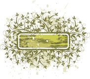 Flowers grunge banner Stock Image