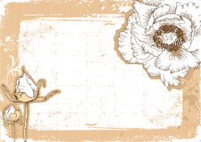 Flowers Grunge Postcard For Text Stock Image