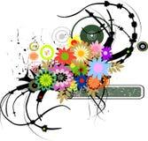 flowers grungy retro Διανυσματική απεικόνιση
