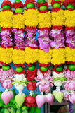 Flowers hand decorated for Hindu temple praying Stock Images