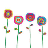 Flowers hand drawn color vector Stock Photography