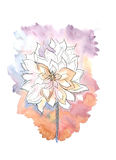 Flowers. Hand drawn watercolor illustration of flowers Stock Photography