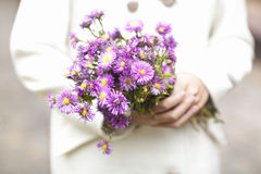 Flowers in the hands Stock Photo