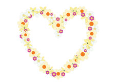 Flowers heart. The flowers heart on the white background Royalty Free Stock Photo