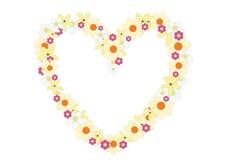 Flowers heart Royalty Free Stock Photo