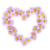 Flowers heart. Isolated on white background Stock Photo