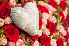 Flowers and heart Royalty Free Stock Photos
