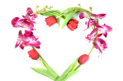 Flowers heart Stock Photography