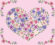 Flowers_heart. Royalty Free Stock Images