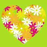 Flowers heart Royalty Free Stock Images
