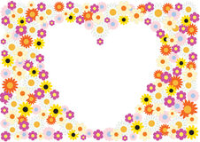 Flowers heart background Royalty Free Stock Photography