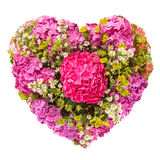 Flowers heart floral collage concept Royalty Free Stock Photo