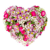 Flowers heart floral collage concept Royalty Free Stock Images