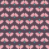 Flowers And Heart Pattern Royalty Free Stock Photography