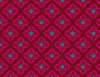 Flowers heart patterns royalty free illustration