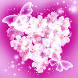 Flowers in heart shape Stock Photo