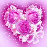 Flowers in heart shape Royalty Free Stock Photo