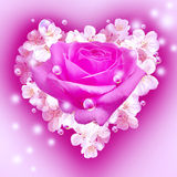 Flowers in heart shape Royalty Free Stock Images