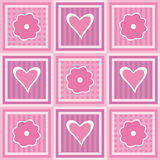 Flowers and hearts. Valentine background with hearts and flowers Royalty Free Illustration