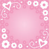 Flowers and hearts. Valentine background with flowers and hearts Royalty Free Illustration