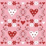 Flowers and hearts. Valentine design with flowers and hearts Vector Illustration