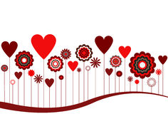 Flowers and Hearts Abstract Royalty Free Stock Images