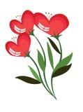 Flowers hearts,CMYK Stock Photos