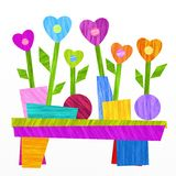 Flowers and hearts. Fancy design with flowers and hearts Stock Photo