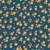 Flowers and hearts pattern Royalty Free Stock Images