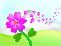 Flowers hearts Stock Photo