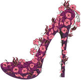 Flowers high heel. Vector illustration  Stock Images