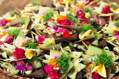Flowers for Hindu ceremony Royalty Free Stock Photos