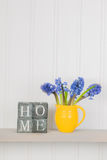 Flowers at home. Bouquet purple Hyacinth flowers at home royalty free stock images
