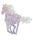 Flowers horse Royalty Free Stock Images
