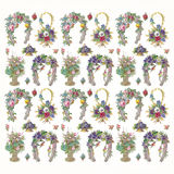 Flowers and horseshoe pattern. Antique Victorian flowers and horseshoe pattern Royalty Free Stock Image