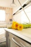 Flowers hospital bedside table Stock Photo