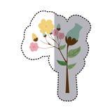flowers icon stock image Stock Photo