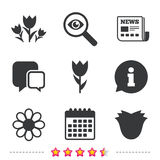 Flowers icons. Bouquet of roses symbol. Royalty Free Stock Image