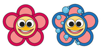 Flowers icons. Illustration of a flowers icons Stock Photography